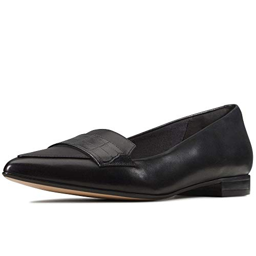 Clarks Damen Laina15 Loafer_Slipper, Schwarz (Black Combi), 39.5 EU