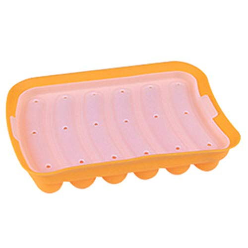 Shulcom New Sausage Maker Silicone Mold DIY Hot Dog Handmade ham sausage mould 6 in 1 Kitchen Making and Refrigerated Hot Dog tool