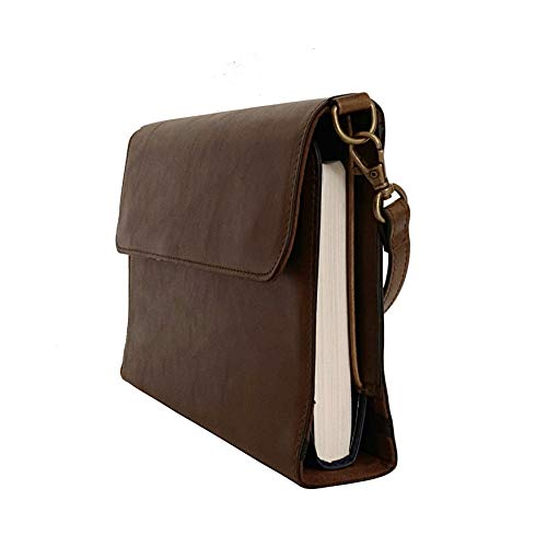 Leather Bible Covers for Women by Bekah Rose | Purse Style Case w/Removable Handle (Rustic, Medium 9x6 & Small 8x5 Bibles)