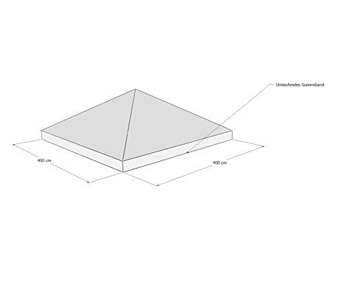 GRASEKAMP Qualität seit 1972 Schutzhaube Abdeckplane Plane Pavillon 4x4 m