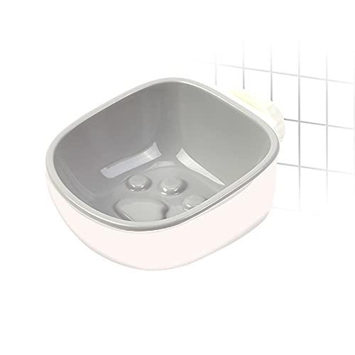 MARMODAY Cuencos básicos desmontables 2 en 1 para perro cajón de agua sin derrames, extraíble para colgar en los cuencos de comida para perros gris1