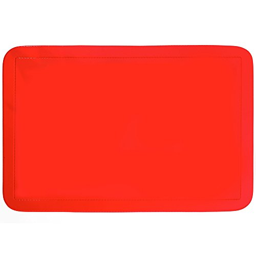 kela Tisch-Set Uni 43,5x28,5cm aus PVC in rot, Polyester, 43.5 x 28.5 x 1 cm