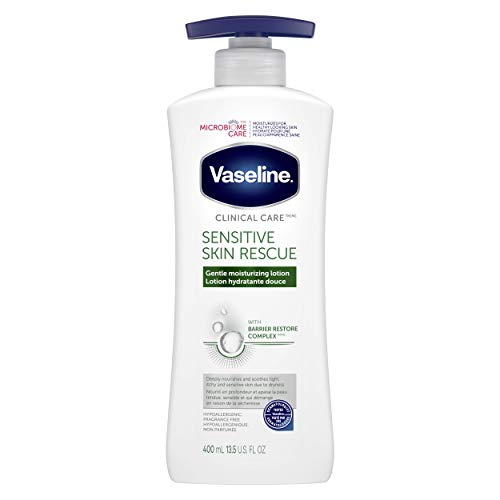Vaseline Intensive Care Lotion for sensitive, irritated skin Sensitive Skin Rescue hypoallergenic and fragrance-free 400…