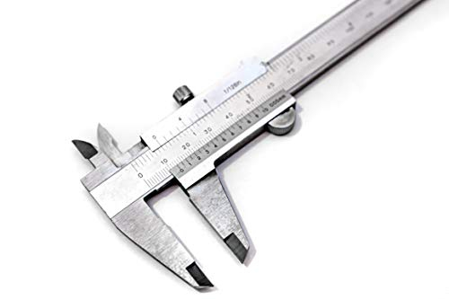Präzisions-Messschieber DIN862 mit Feststellschraube 150 mm aus rostfreiem Stahl