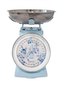 Isabelle Rose Báscula de cocina retro Nathalie azul 3 kg