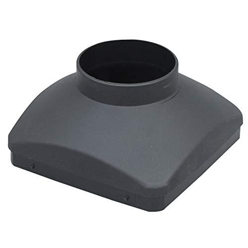 Bayda - Tapa de salida de aire de 75 mm, tapa de salida única con un agujero para habitaciones de calefacción de aparcamiento de aire de barco de coches.