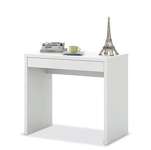 Schreibtisch Schminktisch Bürotisch Sekretär | Weiß matt | 87x77x50 cm