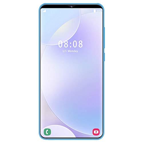 Gaetooely S23 Pantalla Completa de 6.1 Pulgadas 1Gb + 8Gb TeléFono MóVil TeléFono Inteligente TecnologíA de Reconocimiento de Rostros TeléFono Inteligente (Enchufe Blanco de la UE)