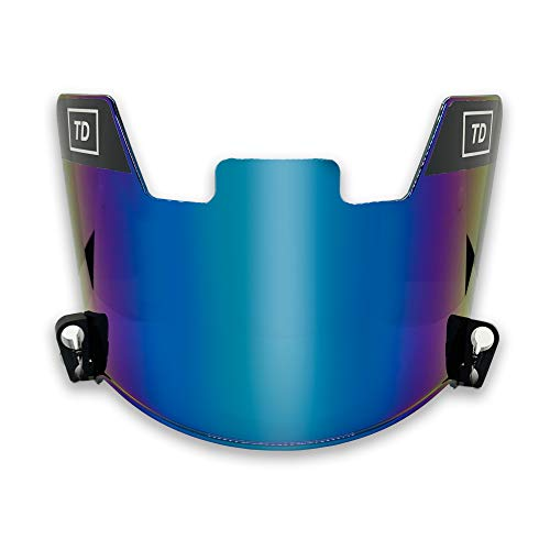 TD Sports Football Visor | Fits Kids Youth and Adult Helmets | Eye Protection for Helmet and Facemask