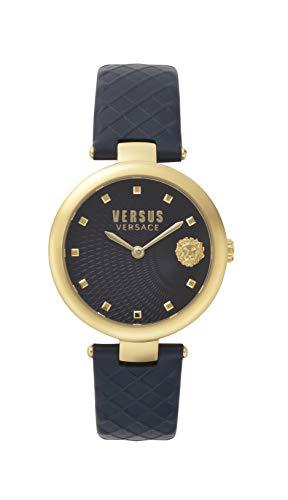 Versus Versace Damen Analog Quarz Uhr mit Leder Armband VSP870318
