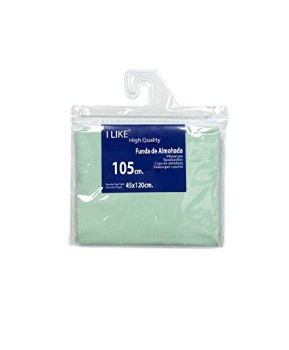 I LIKE® Funda DE Almohada Verde Agua 100% ALGODÓN Cama 105 (45 X 120 cm)