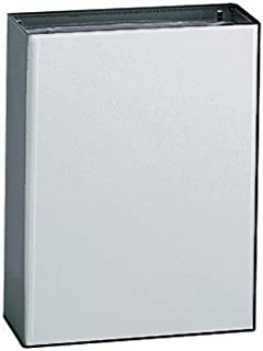 Bobrick 279 ConturaSeries 304 Stainless Steel Surface Mounted Waste Receptacle, Satin Finish, 6.4 gallon Capacity, 14