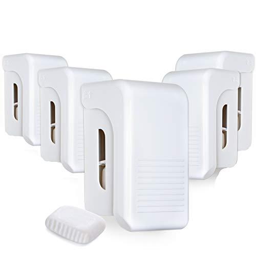 SHD Trockenseifenspender Seifenspender für Trockenseife mit Wandbefestigung - Spender für trockene Seife - Blockseifenspender in weiß, Badezimmer WC Dusche, für Privat und Industrie (5 Stück)