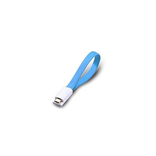 Atlantis Land 0.2m USB 2.0 A - Micro USB 2.0 B M/M Cavo USB 0,2 m USB A Micro-USB B Blu