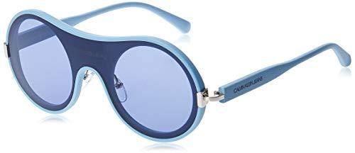 Calvin Klein Jeans CKJ18507S Injected Sonnenbrille Matte Sky Blue Unisex Erwachsene Mehrfarbig, Standard