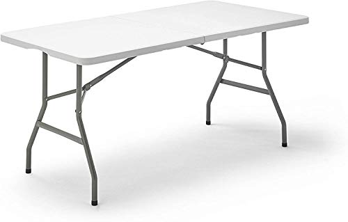 carmen 152- Mesa Plegable Multifuncional, Color Blanco, 152x70x74 cm