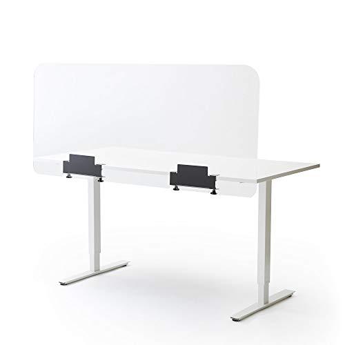 Kunststoffplattenonline.de - Spuckschutz plexiglas für Schreibtisch oder Tisch - transparente plexiglasscheibe Trennwand - 66,5 x 148 cm
