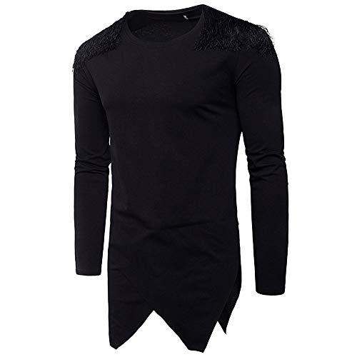 Roiper Homme Pull à Capuche Léger T- Shirt Manches Longues Sweat-Shirt Hoodie Pullover