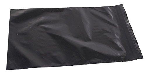 "5"" X 8 Inch Black Reclosable Resealable Zipper Bags, 100"