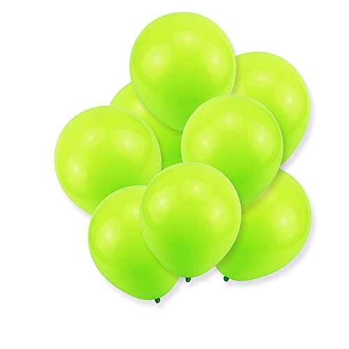 Lime Balloons Light Green Balloons, QPEY 12 Inch 100 Pcs Latex Party Balloons Happy Birthday Decoration Wedding Graduation Baby Shower Party Balloonns (green)