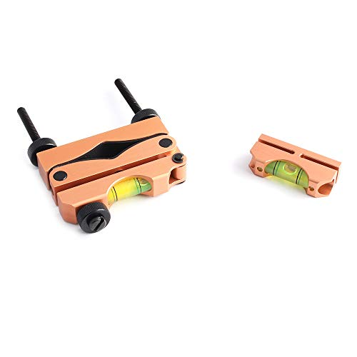 MUJING Engineering Professional Reticle Leveling System Professionelles Nivellierwerkzeug für die Zielfernrohrmontage, Reticle Leveling Kit,Braun