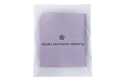 studioplumeriarelaxingヨガマットトレーニングマットおりたたみTPE素材軽量洗える無害無毒トートバッグ付ブラウン(珈琲色)