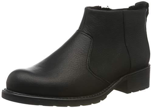 Clarks Orinoco Snug, Stivali da Motociclista Donna, Nero (Black Leather Black Leather), 39 EU