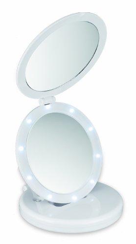 Macom 212 Eclipse Sensation Double Miroir grossissant et Lumineux grossissant/Normal, Gain de Place, avec lumière LED, Blanc