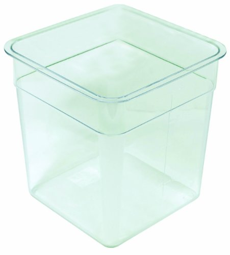 Crestware 4-Quart Square Clear Container