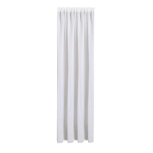 Gardine Leni aus zertifizierter Bio Baumwolle B/H: 140/245 cm halbtransparenter Vorhang weiß