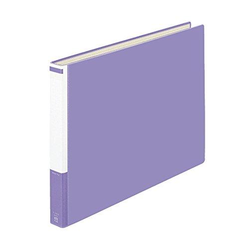 プラス パイプ式ファイル 貼表紙 A3横 2穴 背幅40mm 96-254 ブルー