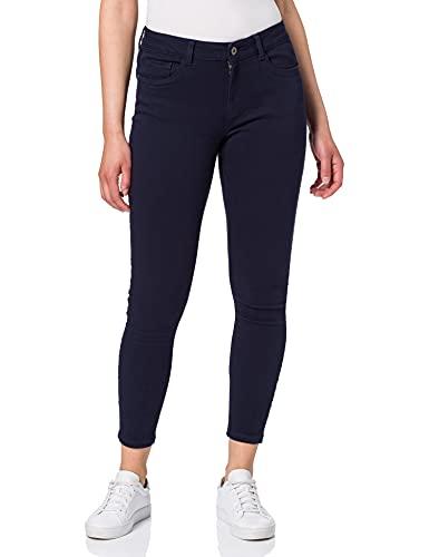 VERO MODA Damen VMHONNISEVEN MR Slim Push UP ANK Pant GA Jeans, Navy Blazer, M / 32