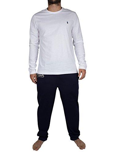 Polo Ralph Lauren Herren Gift Box Pyjama Set Zweiteiliger Schlafanzug, Blau (White/Cruise NA V9140), Large