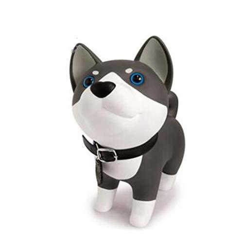 LIANGRAN Hucha Dinero Monedas Delicada Caja De Dinero para Perros Desmontable De PVC Regalo De Cumpleaños Encantador Husky Puppy Piggy Bank Cartoon Dogs Figurines Coin Box, Estilo 1