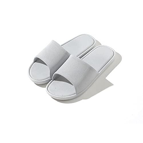 QPPQ Zapatillas de almohada antideslizantes para hombre y mujer, peso ligero, para interior y para el hogar. Sandalias de baño para dormir gris_9/9.5, zapatillas para piscina y gimnasio