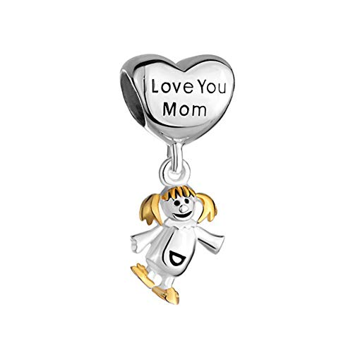 Poetic Charms Best Mother Charm Heart Love 925 Sterling Silver Bead for European Charm Bracelet Necklace