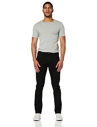 Wrangler Authentic Regular Pantalones, Negro (Black Rinse 107), 42W / 34L para Hombre