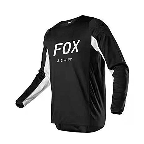 Cycling Jersey Downhill Bike Jersey Fox Vtt Motocross Jersey T-Shirt Long Sleeve Bicycle Shirt Men Camisetas Offroad-S