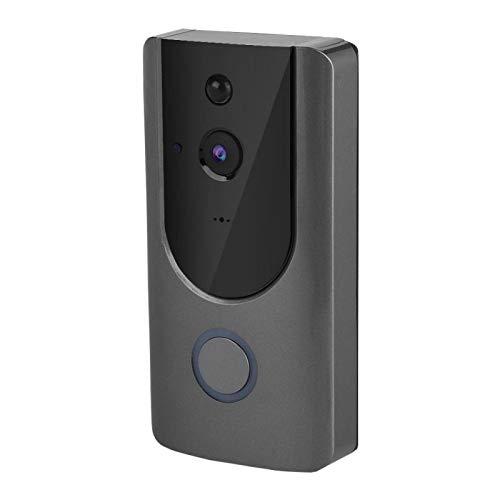 DAUERHAFT Función de intercomunicación de Audio Funciona con Pilas sin cableado Fabricación Profesional Timbre con vídeo Inteligente, para Sistema de Seguridad en el hogar