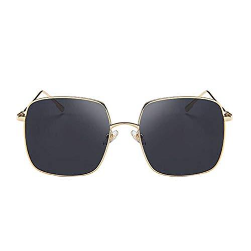babysbreath17 Frauen-Mädchen-Quadrat Sonnenbrille großer Rahmen Rund Gesicht Brillen Sommer-Art-Brillen HD-Objektiv
