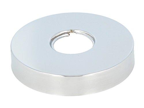 tecuro Gewinderosette (3/4) Ø 27 mm x Ø 80 mm x Höhe 15 mm, messing verchromt