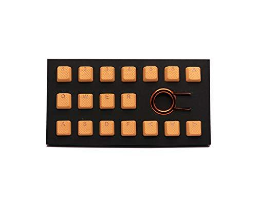 Juego de Llaves de Goma para teclados mecánicos Cherry MX OEM compatibles con Extractor de Llaves Naranja Neon Orange