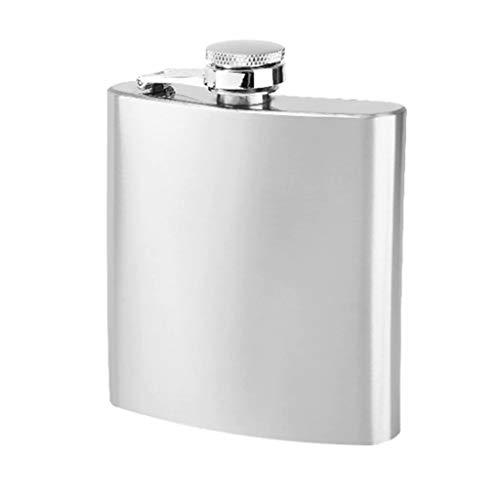 FSJD Petaca portátil de Acero Inoxidable para Exteriores, Jarra de Whisky Vodka de 4 oz, con 1 Copa de Vino y 1 Mini Embudo