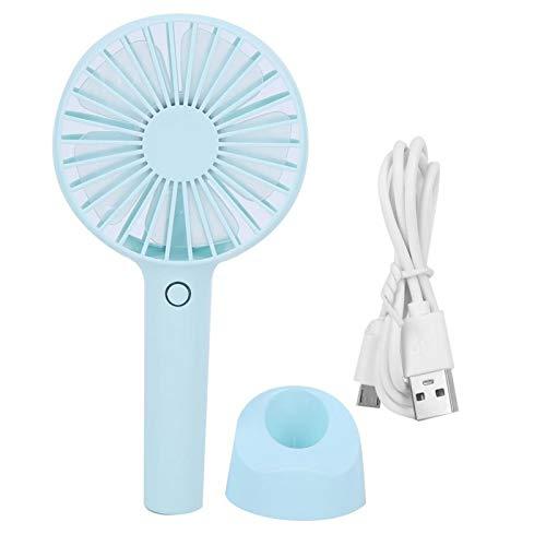 FOLOSAFENAR Mini Ventilador de Escritorio USB para Oficina, Viento Fuerte, Recargable, Mini Ventilador de Mesa de Escritorio USB, portátil, Potente para Acampar, Oficina en casa, Viajes al Aire Libre