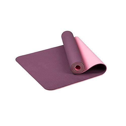 KJBGS Accesorios de Fitness Estera de Yoga Mat de Yoga Antideslizante Hecho de Goma Natural Ejercicio Ejercicio Fondo Ejercicio Correa Ejercicio Mat Conveniente y Duradero (Color : YDYG4DP)