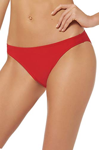 EBW Women's Collection Classic Hipster Bikini Bottom Red S