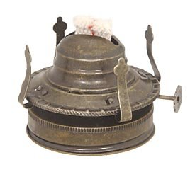 B&P Lamp #2 Size Fruit jar to Oil Lamp Adapter w/Antique Finish