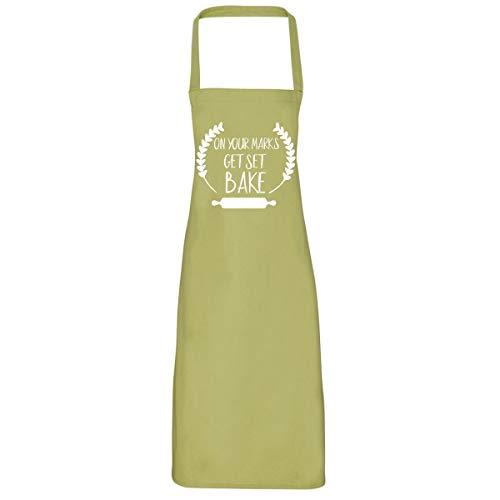 Op uw merken krijgen set bakken schort - grote Britse bakken uit geschenken schorten voor vrouwen nieuwigheid schort chef-kok schort grote Britse bakken uit koopwaar gbbo schort GBBO Pinnie