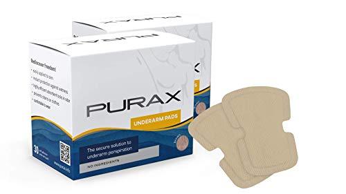 PURAX - Cuscinetti per braccio, marrone, confezione doppia, 2 x 30 pezzi