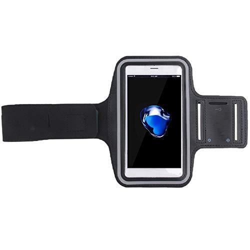 DFVmobile - Neoprene Arm Cover Armband Sport Running Bike Walking Cycling Gym for Motorola Droid Maxx 2, XT1565 - Black